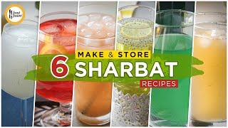Top 6 Make & Store Sharbat Recipes By Food Fusion (Summer Drinks)