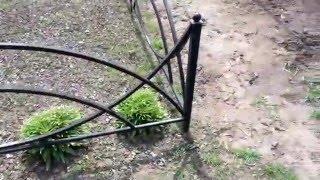 видео оградки на могилу