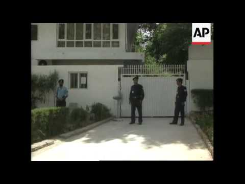 Exteriors of British High Commission as diplomats leave