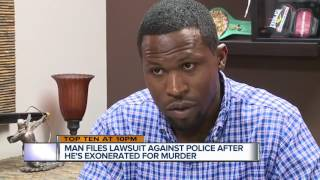 Man files lawsuit against police after he's exonerated for murder