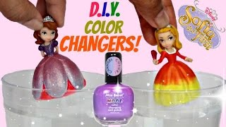 D.I.Y. Princess Sofia The First & Amber Dress Make-over / Do it Yourself Nail Mood Polish / TUYC