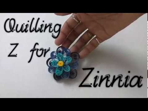 How to Quill a Zinnia | Quilling A to Z with YellowMellowLife | Z for Zinnia
