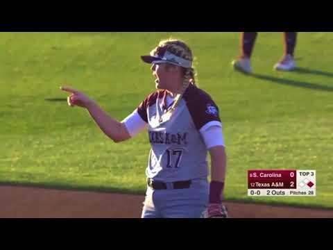 Softball: Highlights   A&M 3, South Carolina 0