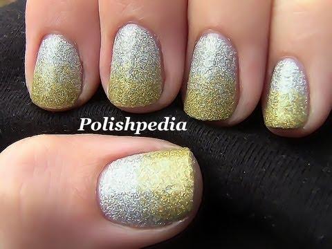 2 tone nail art