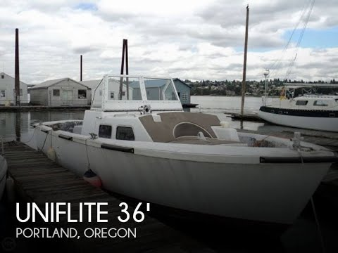 Used 1980 Uniflite 36 LCPL Landing Craft Personnel Boat for sale in Portland, Oregon