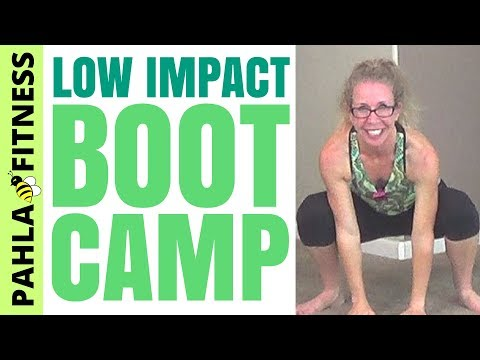 low impact boot camp in your living room  cardio and