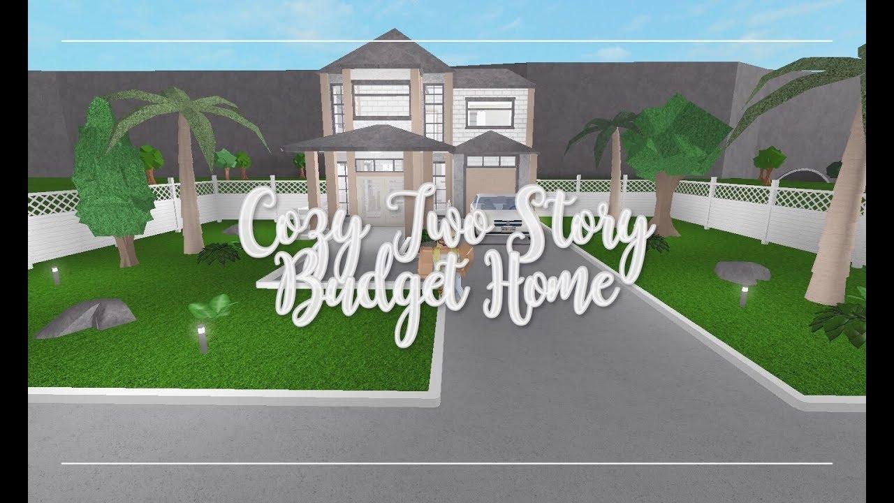 Roblox Bloxburg Cozy Two Story Budget Home 28k Youtube