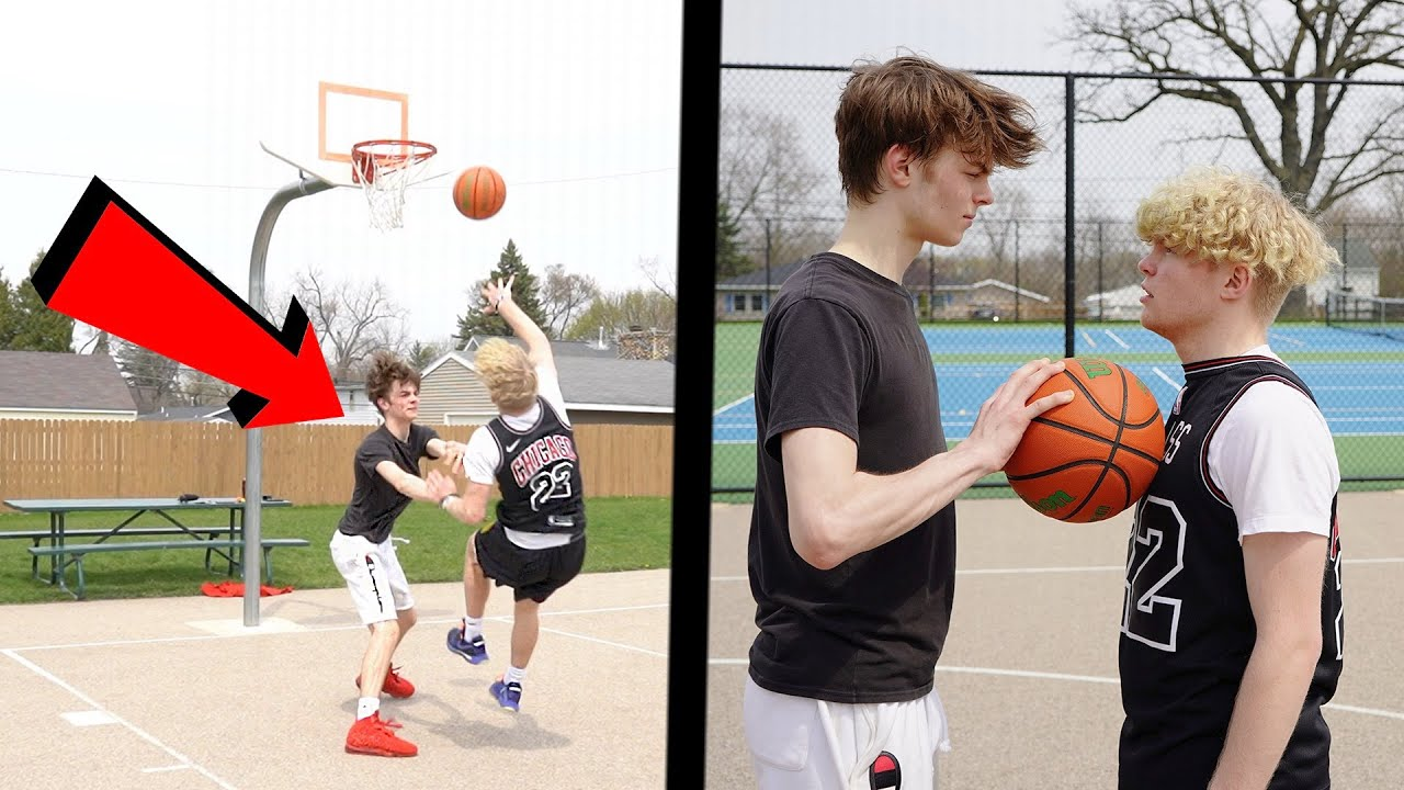 My Brother Tried To Fight Me! HEATED 1v1 Basketball!