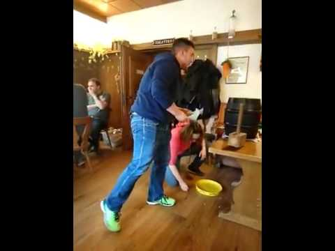 Keg tapping goes horribly wrong.