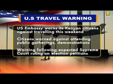 US Issues Travel Warning To Its Citizens