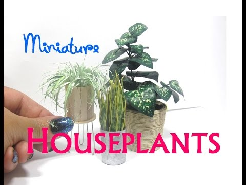 DIY Paper and Aluminum Foil Houseplants Plants Dollhouse Miniature Furniture
