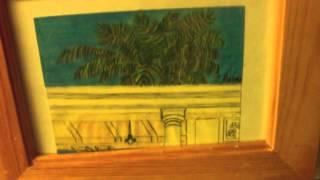 Framed Drawing Of The Santa Fe Depot In Redlands