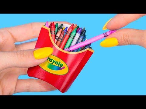 10 Fournitures Scolaires Miniatures DIY Faites Avec Des Bonbons