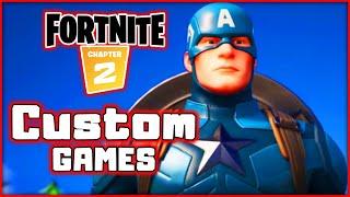 Fortnite! Captain America! Custom Games Solos! Duos! Squads! | Blitzwinger