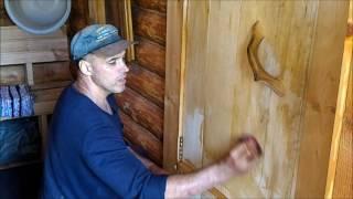 видео Деревянные двери для бани