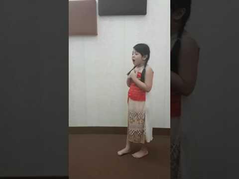 Cover Lagu Moana disney ( HOW FAR I'LL GO ) by Ara #penyanyi cilik palembang