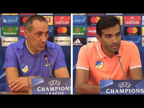 Giorgos Donis & Nuno Morais Pre-Match Press Conference - Apoel Nicosia v Tottenham -Champions League