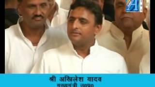 Akhilesh Yadav cm up  byte on bus station Report by ASIAN TV  NEWS