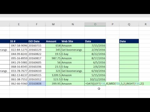 Highline Excel 2016 Class 08: Text Formulas and Text Functions to Join and Extract Data