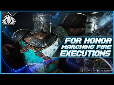 FOR HONOR MARCHING FIRE EXECUTIONS!!! SEASON 8 REACTION