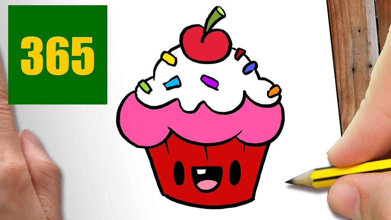 Comment Dessiner Cupcake Kawaii étape Par étape Dessins Kawaii Facile