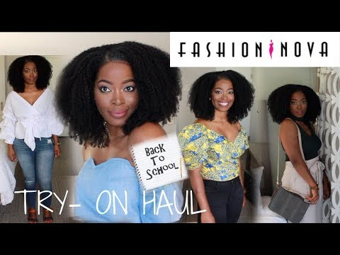 "Fashion Nova ""Back to School"" Clothing Try  On Haul / Outfit ideas"