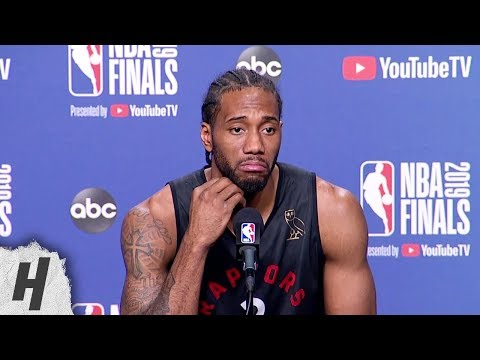 Kawhi Leonard Full Interview - Game 5 Preview | 2019 NBA Finals Media Availability