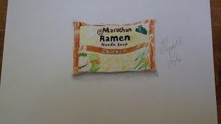 How I draw my Roman Noodles
