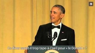 obama se moque de trump au dîner des correspondants de la maison blanche
