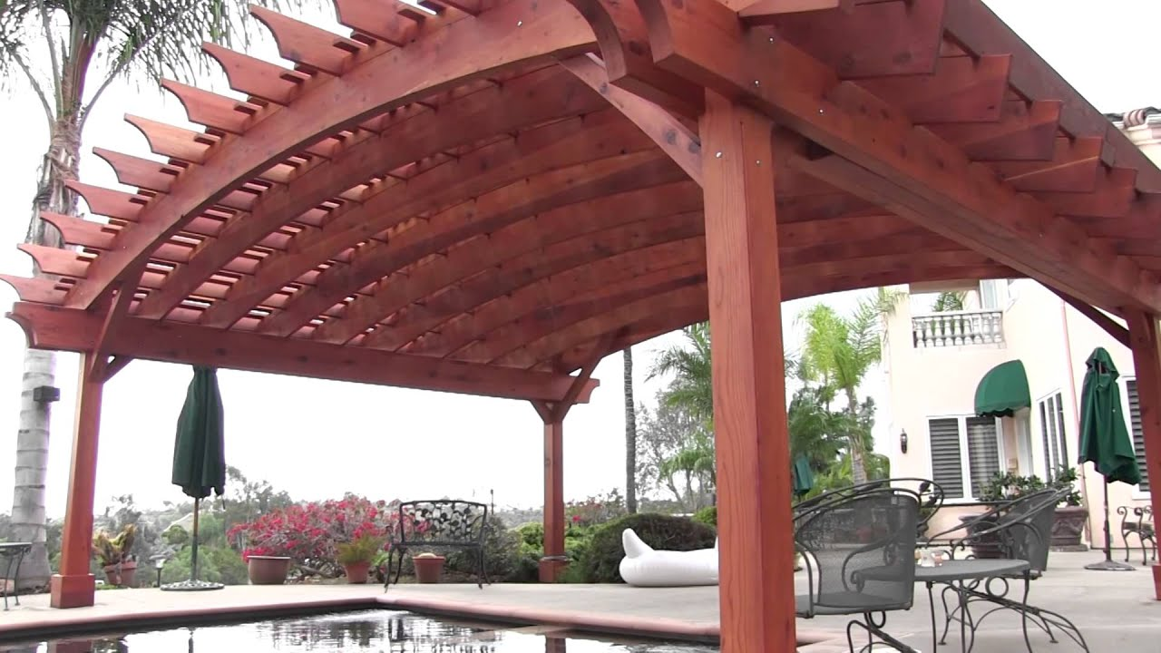Arched Pergola With Louvers