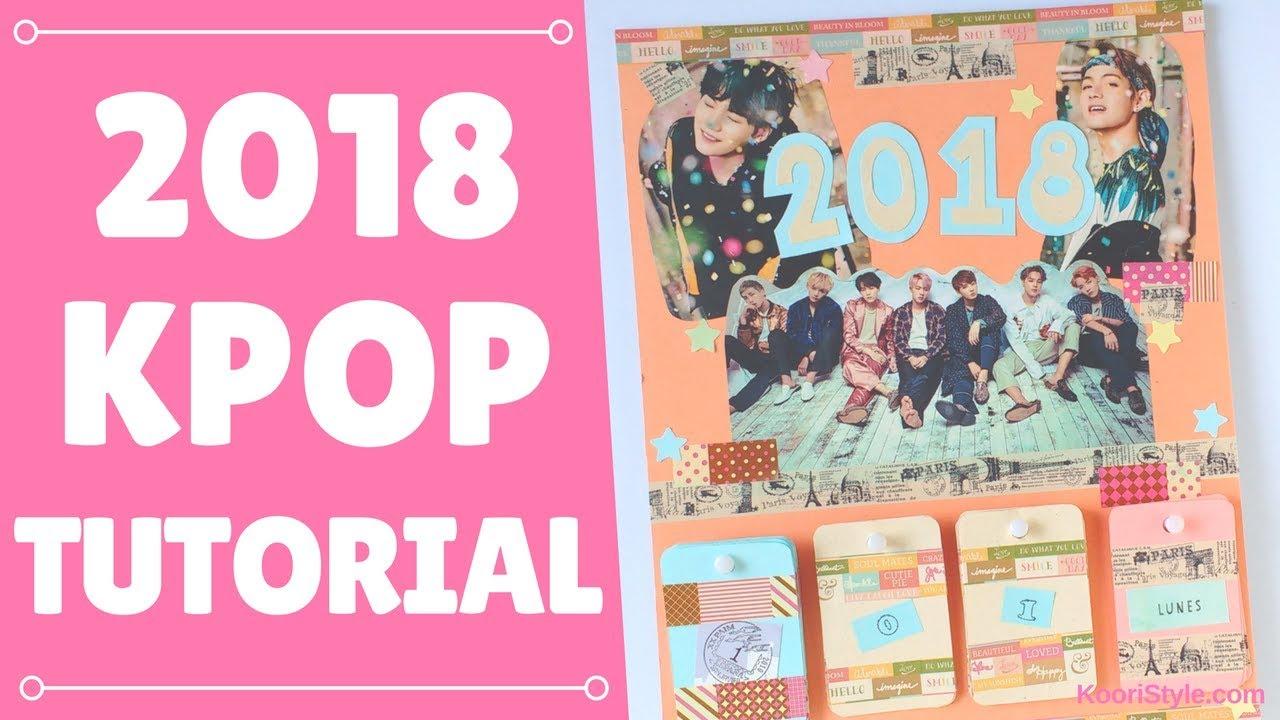 Diy Kpop Calendar : 【kpop diy】 bts calendar tutorial eng esp youtube