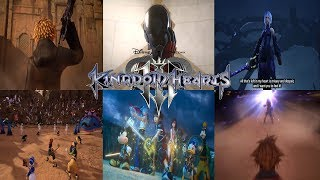 Kingdom Hearts 3 - All Trailers(2013-2018)