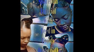 Space Buns optional feed in braids |Short Natural Hair Protective style