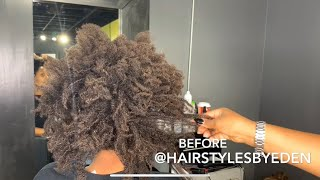 BEAUTIFUL NATURAL HAIR/ BEFORE AND AFTER | BLACK WOMAN!!