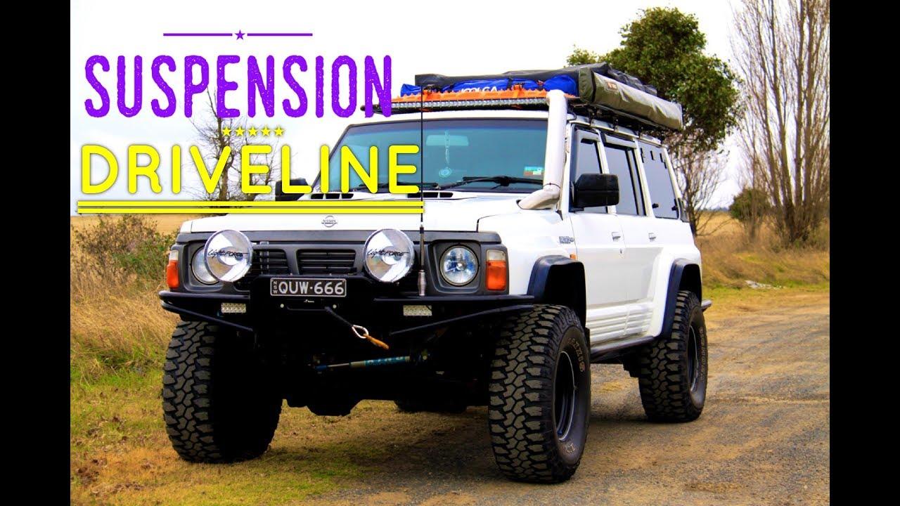 GQ Patrol - Suspension & Driveline setup - YouTube