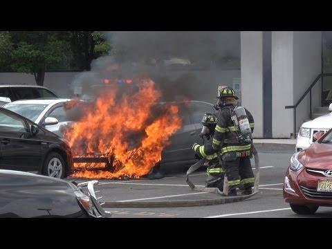 Hasbrouck Heights,NJ Fire Department Car Fire  7/15/16