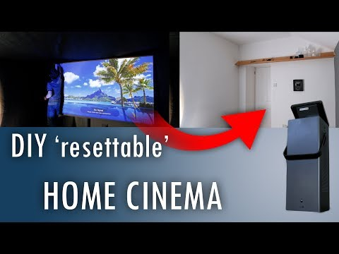 Make an Easily-Reset Home Cinema - ft. 4K laser projector CineBeam