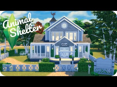 ANIMAL SHELTER HOME | Sims 4 Cats And Dogs Speed Build