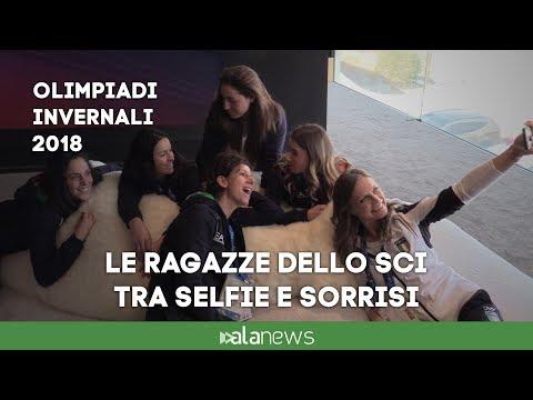 Immagini: A Casa Italia tengono banco le ragazze dello sci