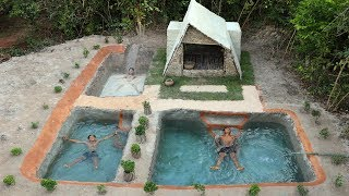 Incredible! Build Awesomeness Mud Slide Pool - Cleaning Pool & Swimming Pool -Part 3