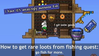Terraria Angler's quests wİth complexity ─ It's about fishing...
