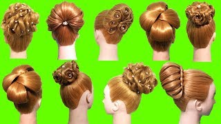 5 Cute juda hairstyles with using clutcher || Hair style girl || Easy hairstyles || Cute hairstyles