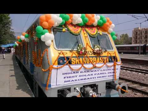 Railway Launches First Train With Solar Power at Safdarjung Station, New Delhi