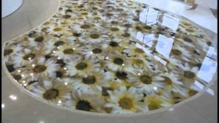 видео Наливной пол в ванной: фото