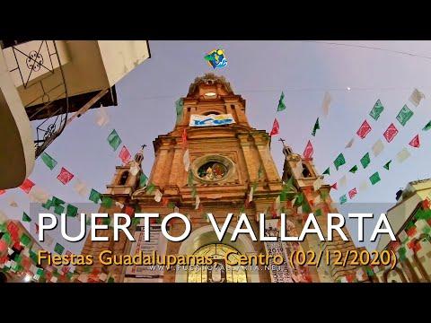 Fiestas Guadalupanas, Procesiones de la Virgen de Guadalupe, Puerto Vallarta Plaza / Main Square