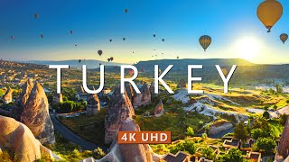 TURKEY (4K UHD) Ambient Drone Film + Best Piano Music For Stress Relief, Meditation, Sleep, & Yoga