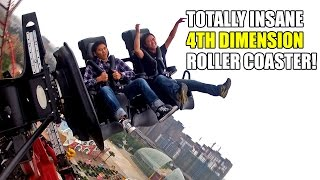 Absoultely CRAZY 4th Dimension Roller Coaster POV! INSANE Dinoconda Ride in China