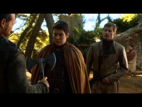 Jaime gives Brienne