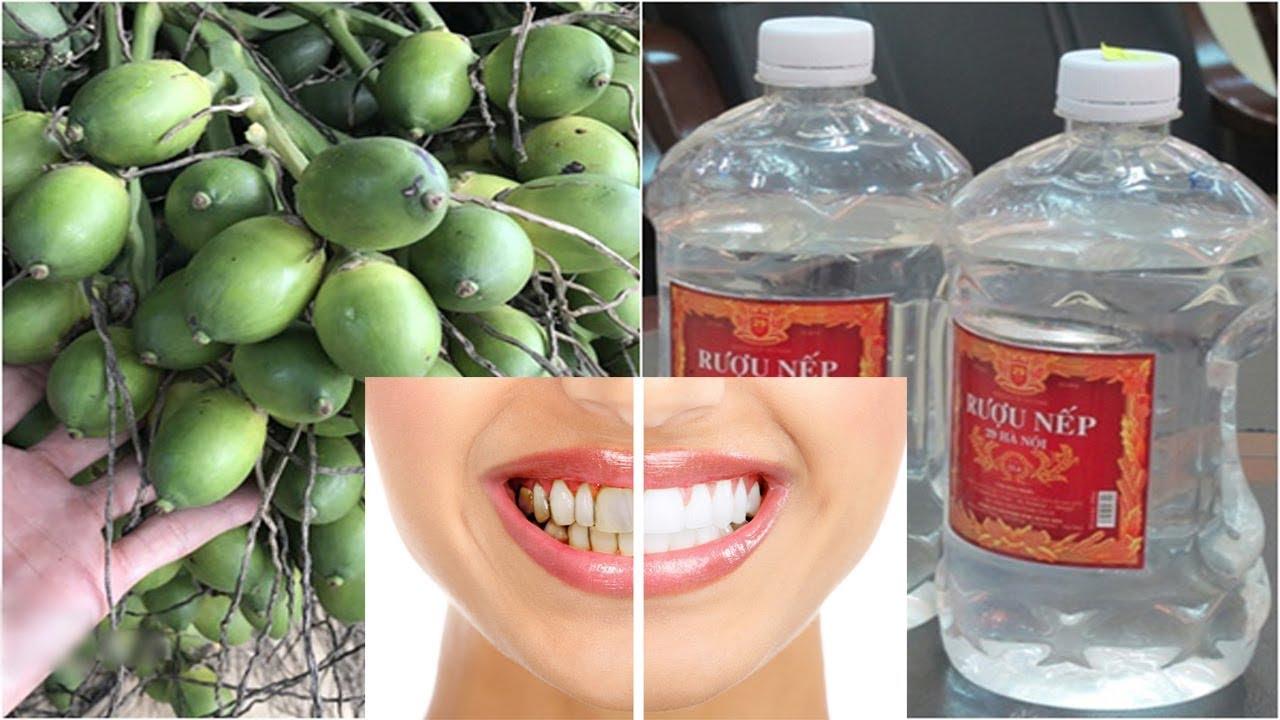 Dùng quả cau để làm trắng răng cách làm trắng răng hiệu quả