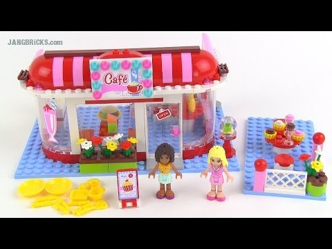 Lego Friends City Park Cafe Set 3061 Review Youtube